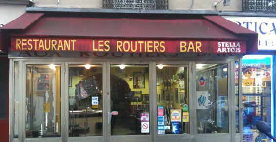 Les routiers, Marx Dormoy 75018... steak au poivre, terrines maison la vieille cuisine des routiers a l'ancienne/ old fashion food take a trip to the past...