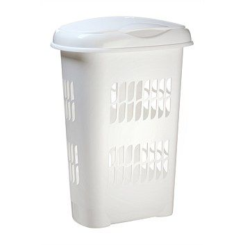 Laundry Products & Supplies - Briscoes - Tontarelli White Laundry Hamper - 50L  60% - 16