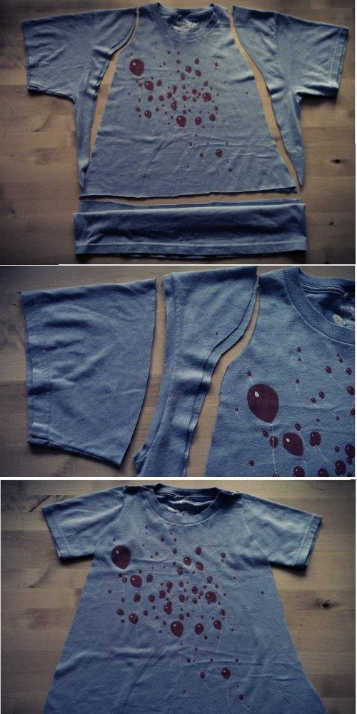 Kinderkleid aus erwachsenem T-Shirt