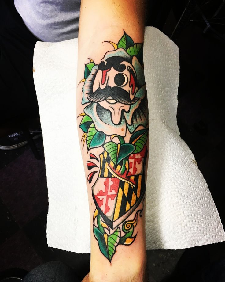 To my maryland friends!! Artist:Peter Larkin Kyklops Tattoo Pittsburgh PA