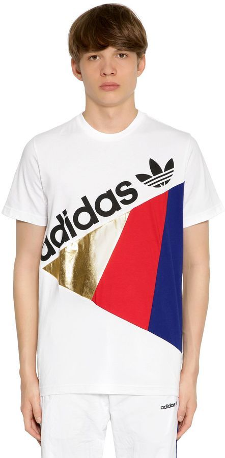 32fd516d7c35 adidas Tribe Patchwork Cotton Jersey T-Shirt