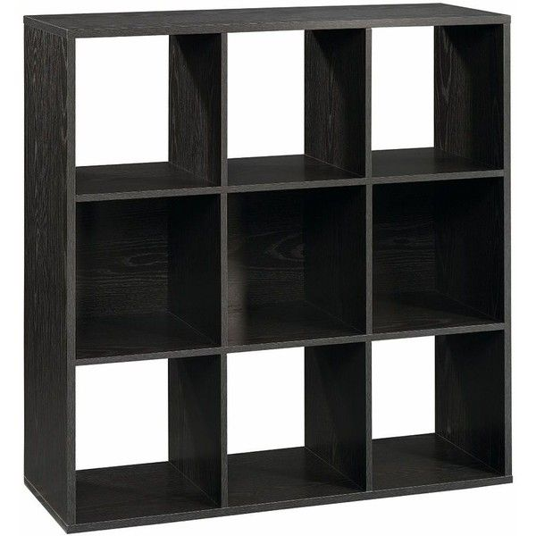 Sauder 9-Cube Modular Storage Cubby Bookcase, Black (290 BRL) ❤ liked on Polyvore featuring home, furniture, storage & shelves, bookcases, black, black shelf, sauder bookcase, black shelves, black book shelves and cube bookcase