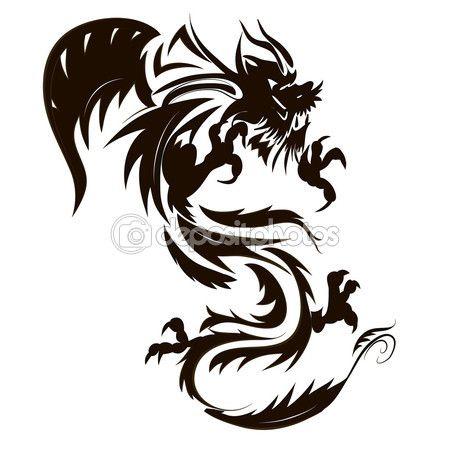 Татуировка дракона — стоковое изображение #56250623