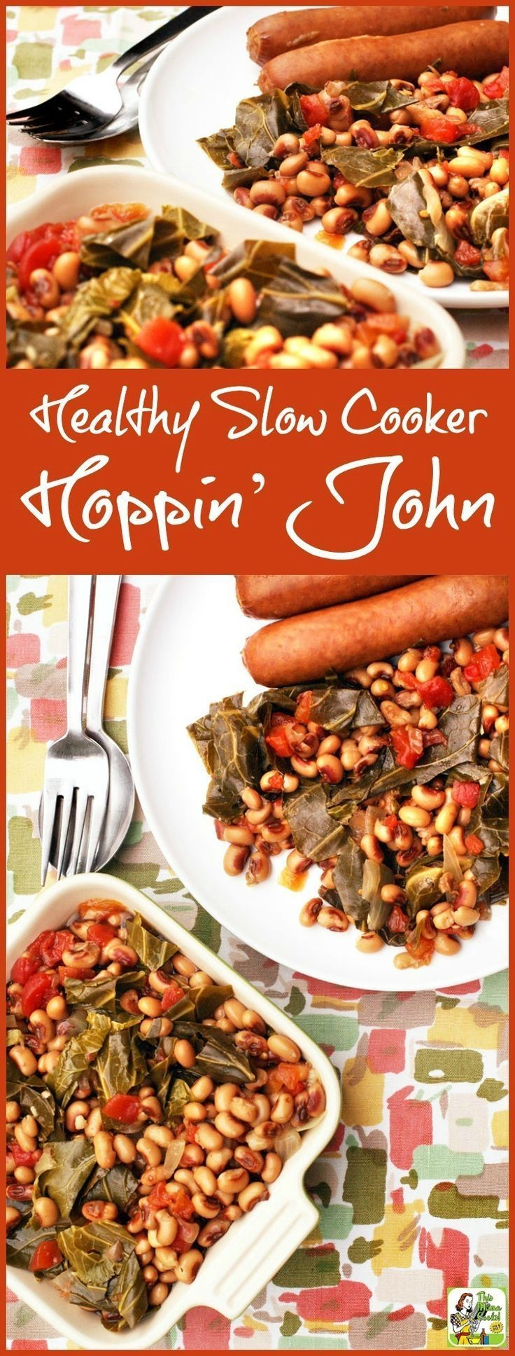 Looking for a Healthy Slow Cooker Hoppin John recipe for New Year's Day? Click to get an easy to make Hoppin John recipe you can make in your Crock-Pot!