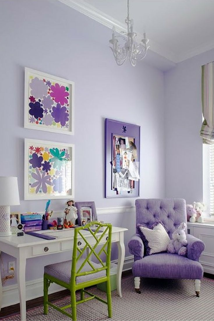 Open your doors and let those spring colors in! A lovely shade of lavender painted on these bedroom walls. Paint color is Winsome Lilac (1127) from Pratt & Lambert Paint. :: Devine Paint Center Blog