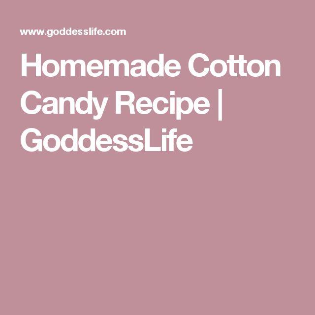 Homemade Cotton Candy Recipe | GoddessLife