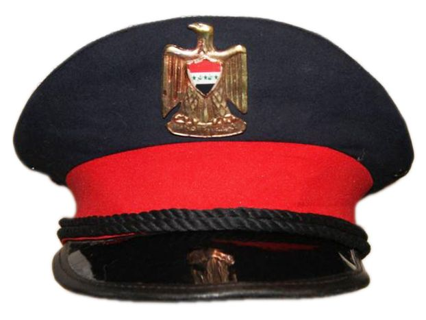 Iraqi Army officers  dress uniform visor cap.  0a0c5221e2c