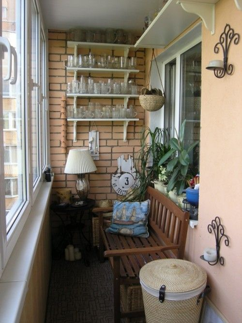 cushioned  bench/lamp/table garden balcony