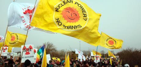Anti-Atomprotest in England: Auch der britische RWE-Statthalter hält das 35-Milliarden-Euro-Kraftwerk Hinkley Point für zu teuer