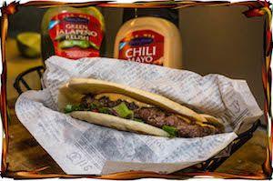 Villisika Pita Burger | Wild Boar Pita Burger