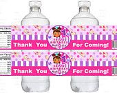 Doc Mcstuffins Inspired Doctor Theme Water Bottle Labels, Doc Mcs Birthday Party Supplies Printables - YOU PRINT