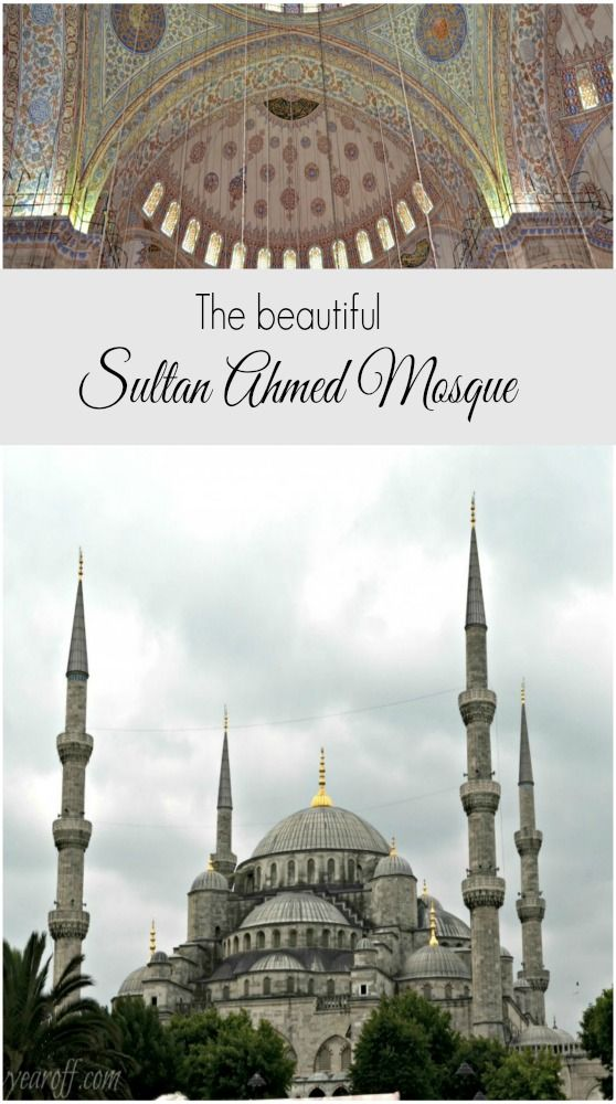 The beautiful Sultan Ahmed mosque in Istanbul, Turkey