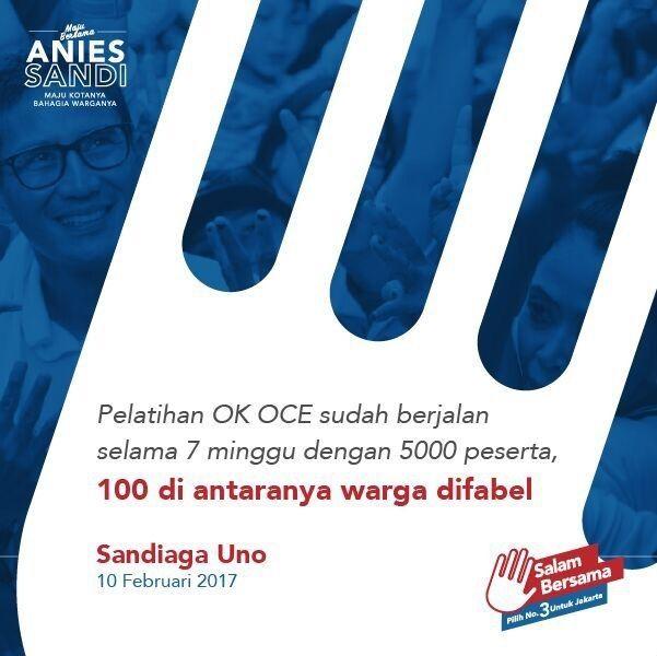Program OK OCE Anies Sandi : Tantangan dan Solusi