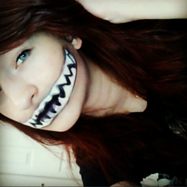 Easy Halloween monster mouth makeup | Holiday stuff ...