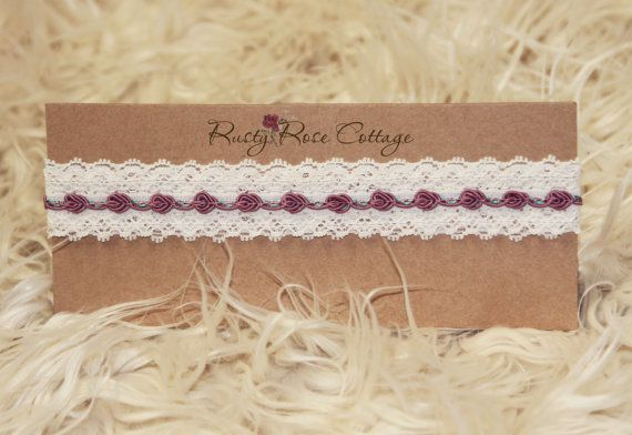 Newborn Lace Headband  Photo Prop  Newborn Headband  Baby
