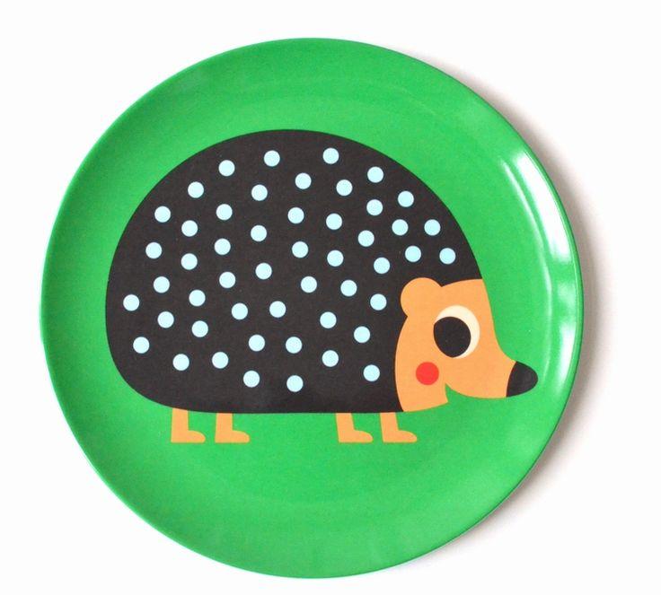 Original #Hedgehog plate by #Ingela P #Arrhenius from www.kidsdinge.com  https://www.facebook.com/pages/kidsdingecom-Origineel-speelgoed-hebbedingen-voor-hippe-kids/160122710686387?sk=wall