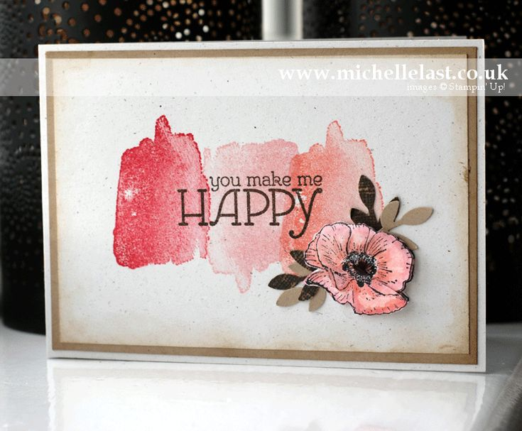 Happy Watercolour stamps from Stampin Up card made by Michelle Last