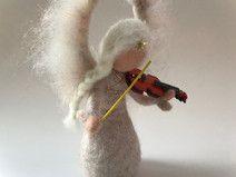 Weihnachts Engel mit Geige,Groß.Gefilzt.Waldorf