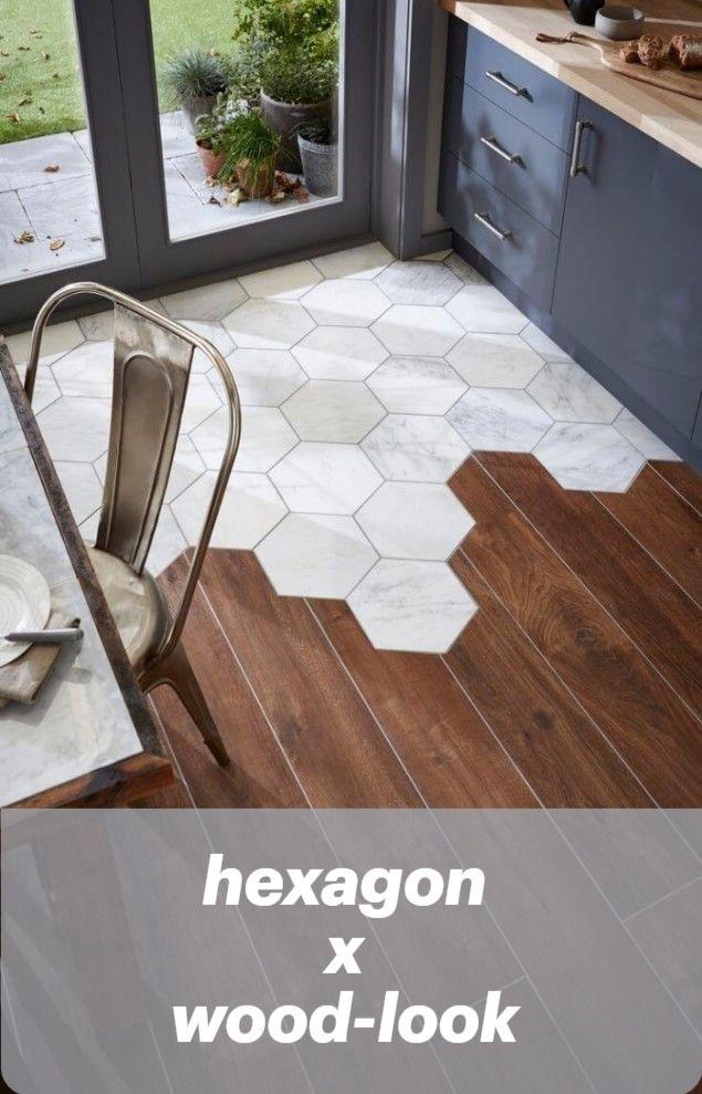 Hexagon X Wood Look Tiles In 2020 Flooring Wood Floor Texture House Flooring