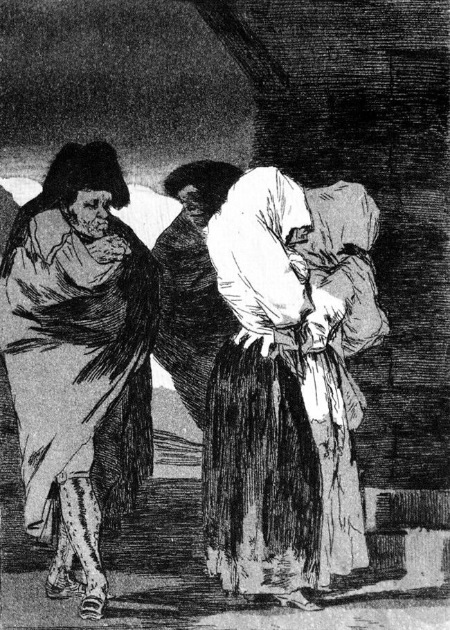 Francisco de Goya - ¡Pobrecitas!    Los Caprichos