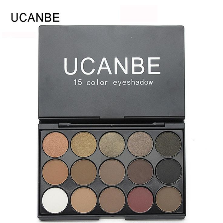 [Visit to Buy] UCANBE Brand 3 Style 15 Earth Color Matte Eyeshadow Palette Cosmetic Makeup Pigment Shimmer Eye Shadow Naked Smoky Palette #Advertisement