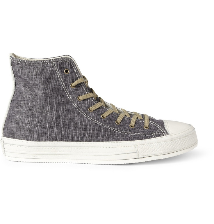 ConverseChuck Taylor Leather and Linen Sneakers|MR PORTER