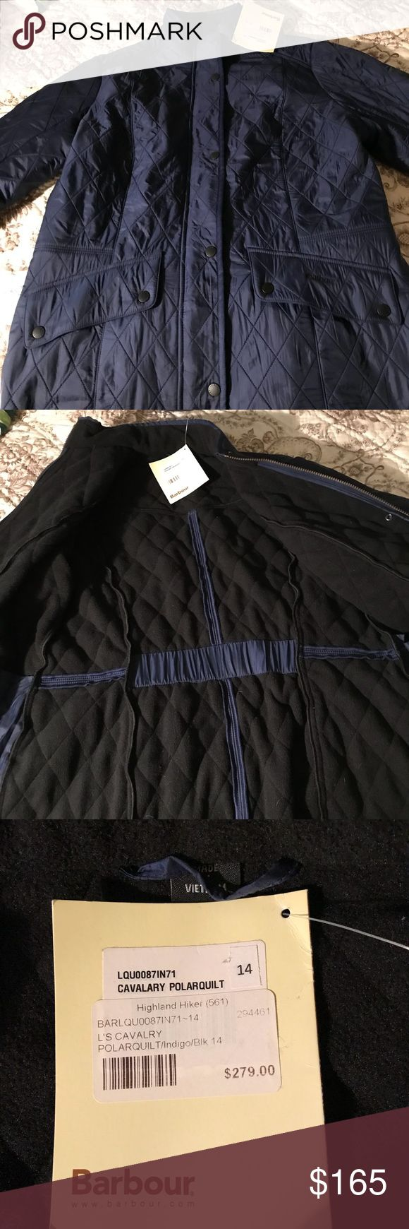 Barbour Quilted Jacket Brand new with tags. One mark on it, lotion busted in storage container it was in, I'm sure it will wash out just haven't tried since it has tags on it. Purple/blue color. Very nice jacket. Barbour Jackets & Coats