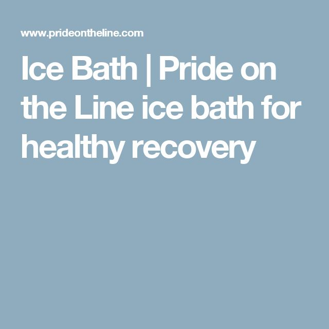 Ice Bath | Pride on the Line ice bath for healthy recovery
