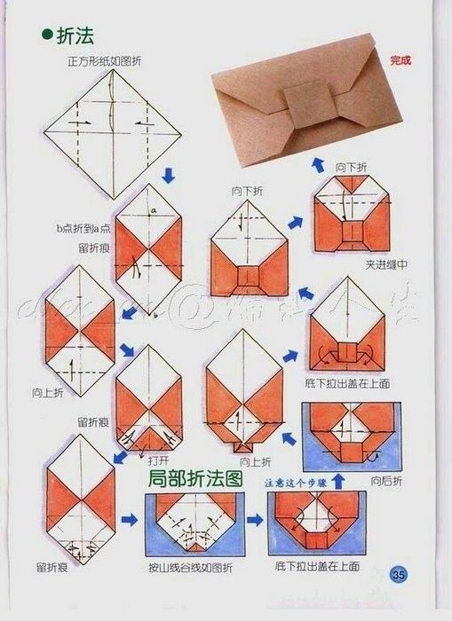 Origami envelopes (I have this origami book at home!!!) :D