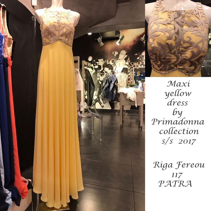 Maxi yellow dress in Primadonna store.