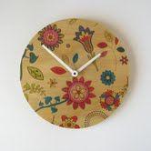 'Flowery' Objectify wall clock - NZ made :-)