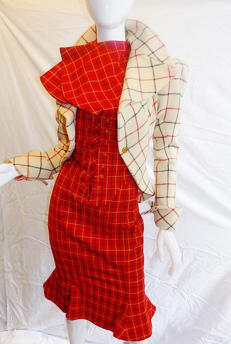 "Vivienne Westwood ""The Harris Tweed"" collection 3 pc corset suit  1988-87"