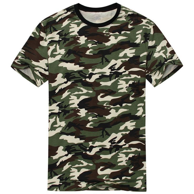 2017 New Arrival Camouflage T-shirt Men Classic Crewneck Brand T Shirt Men Plus Size Short Sleeve T Shirt For Couples