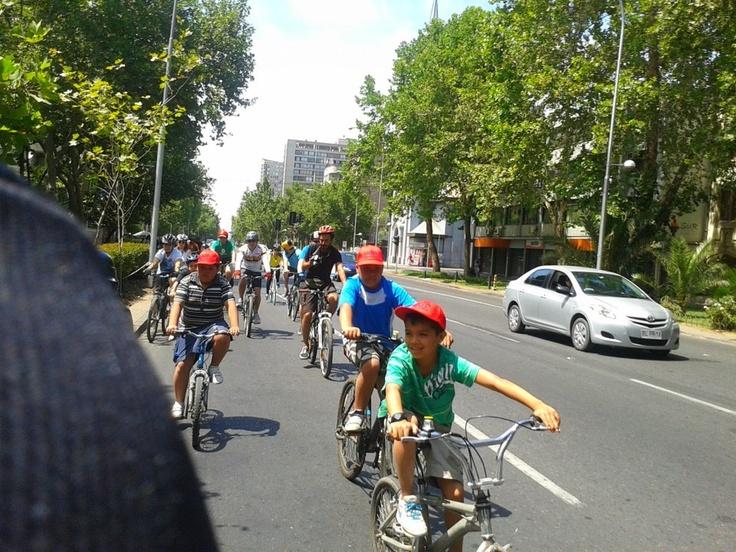 En la cicletada