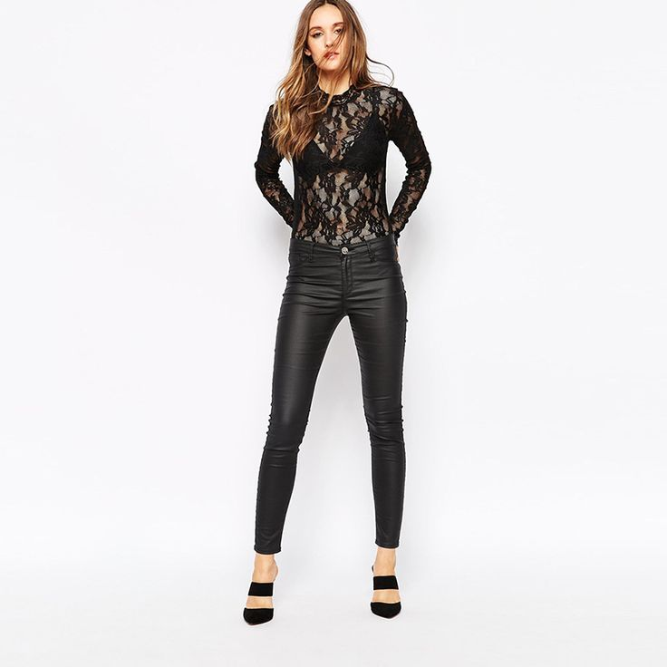 lace high neck long sleeve bodysuit - Google Search
