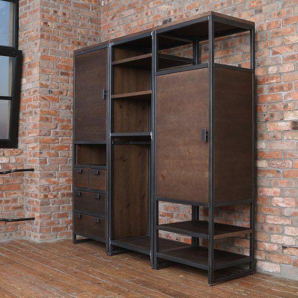 on sale bcf4d fd71f Industrial Wardrobe Unit | home in 2019 | Industrial bedroom ...