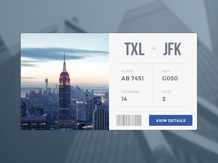 Flight Card #ticket