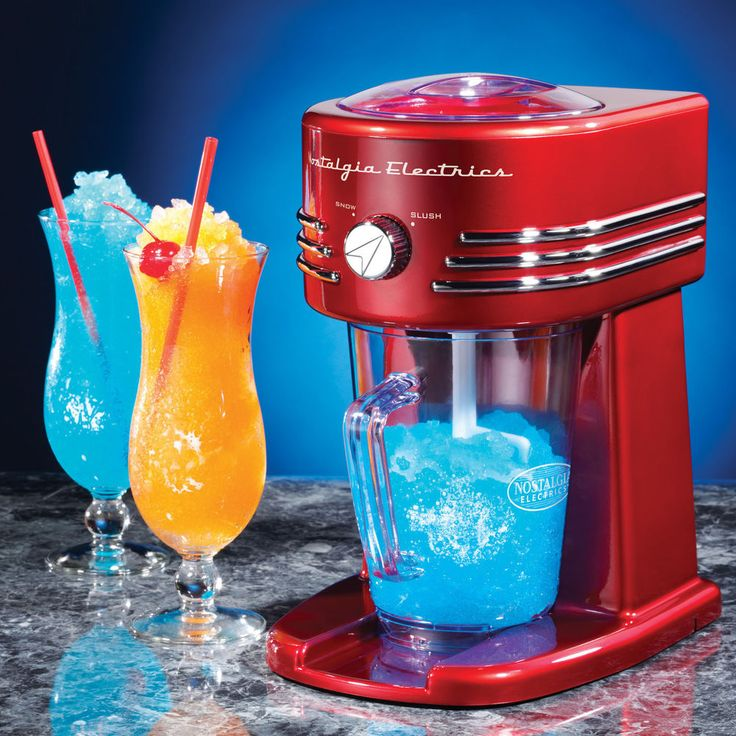Frozen Drink Machine Margarita Slush Maker Shaved Ice Slushie Puppie Beverage #NostalgiaElectrics