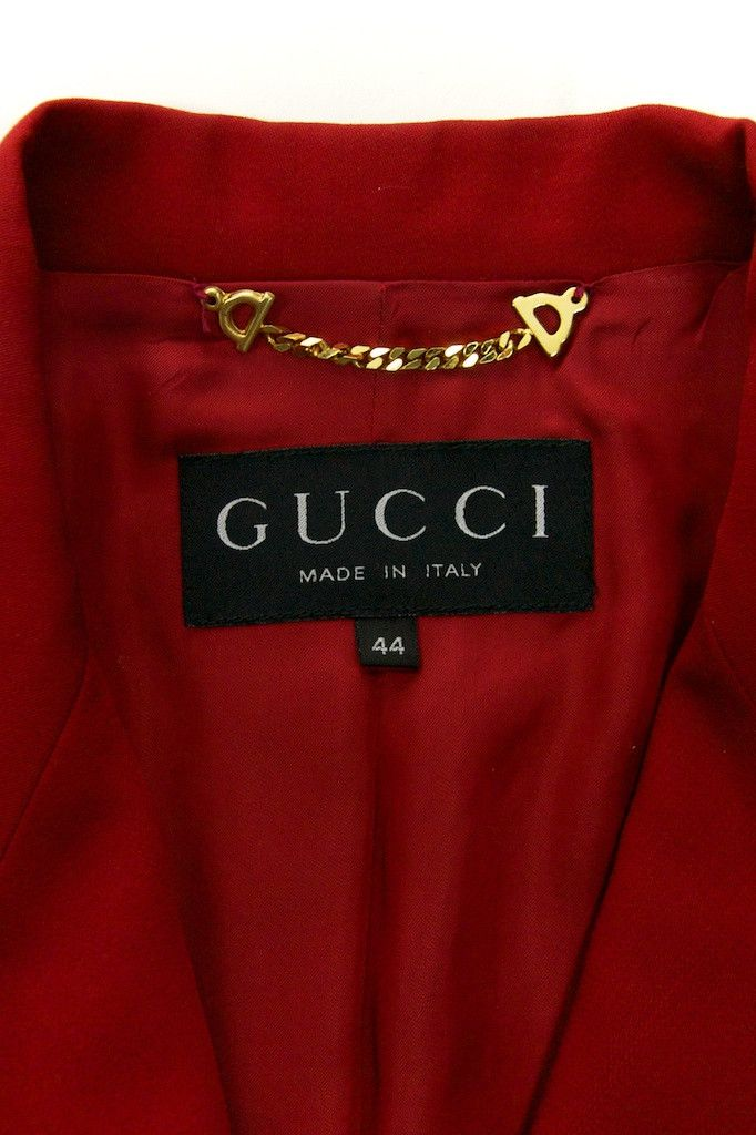 Gucci red double-breasted blazer