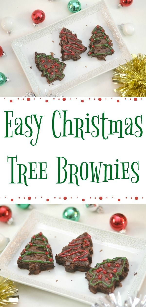 Easy Christmas Tree Brownies Recipe Lots of Recipes Pinterest