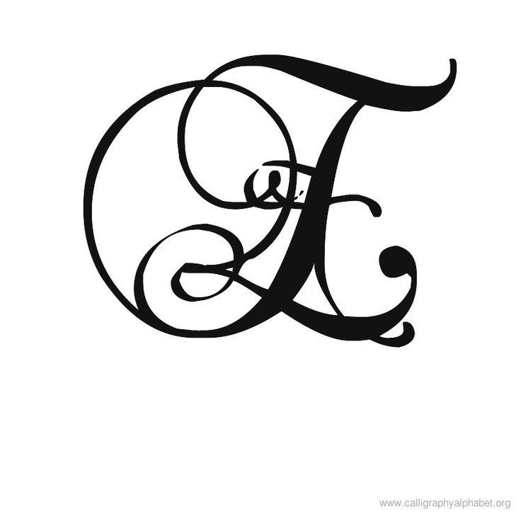 12 best Fancy Calligraphy Alphabet Stencils images on ...