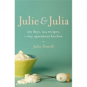 """On my """"to read"""" list, now made into a movie (which I haven't seen either, but on my """"to see"""" list). Julie Powell, trapped in a dead-end job, vows to reclaim her life by preparing each of the 524 recipes in Julia Child's """"Mastering the Art of French Cooking"""" in the course of a single year."""