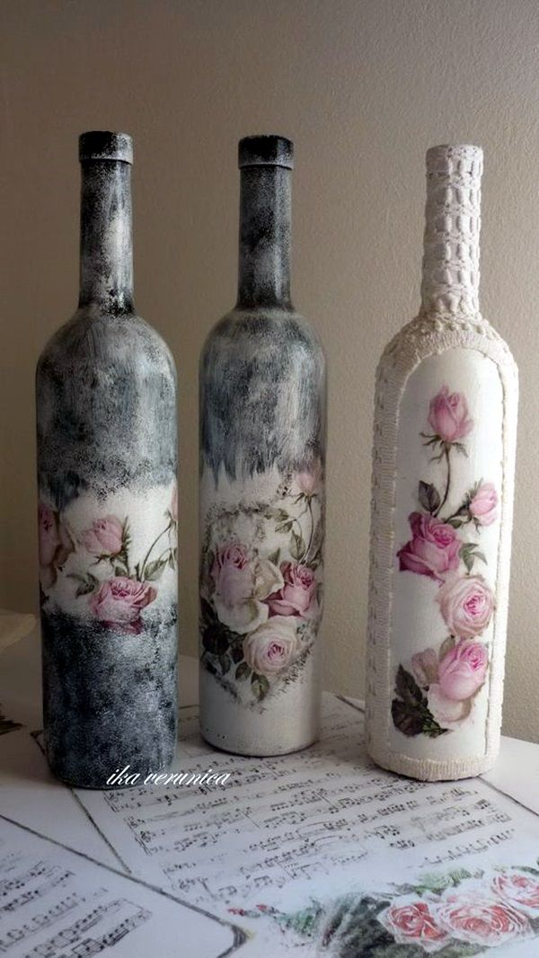 Decorative Wine Bottles Ideas Magnificent Best 25 Decorated Wine Bottles Ideas On Pinterest  Decorative Design Ideas