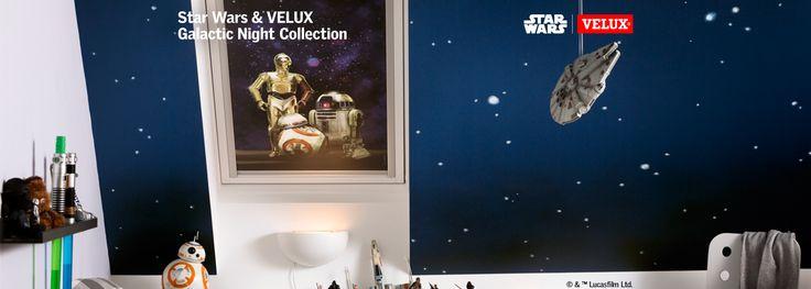 Star Wars & VELUX Galactic Night Collection - verduisterend rolgordijnen voor het kind in u