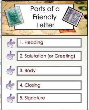 parts of a friendly letter letter writing friendly letter business letter to 23902