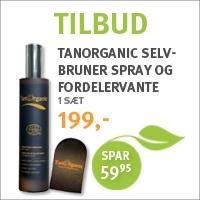 TanOrganic selvbruner spray og fordelervante - 1 sæt