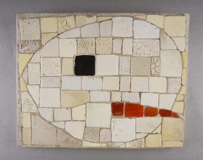 Ewa Żygulska, Zima, mozaika, fot. Pracownia Fotograficzna MNK, wł. Muzeum Narodowe w Krakowie // Winter, mosaic, owned by the National Museum in Krakow