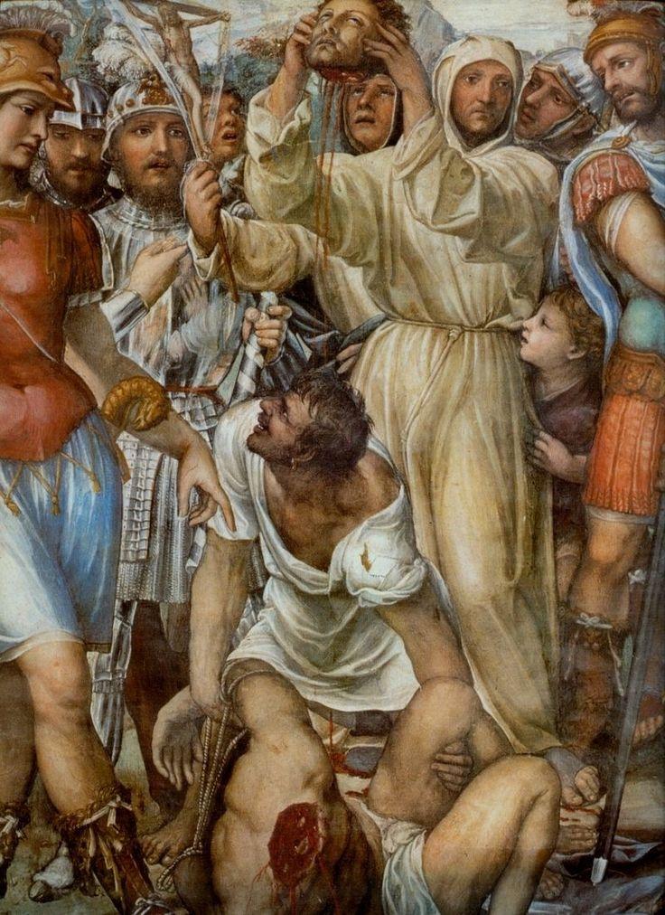 Содома. Казнь Николо ди Тульдо. Деталь фрески. 1526г. ц. Сан Доменико, Сиена.