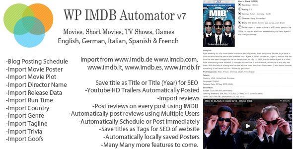 Plugin IMDB Automatic WordPress Plugin