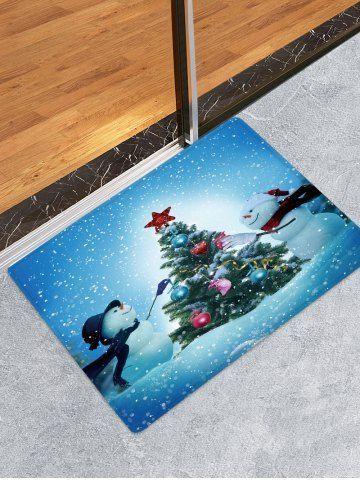 Weihnachten Schneemänner Baum Muster Wasseraufnahme Boden